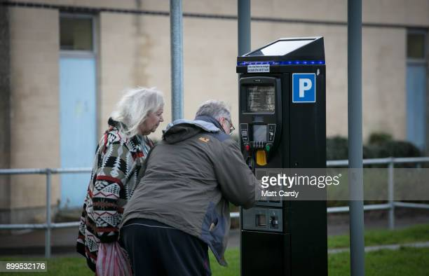 People use a parking payment machine in a car park at the Royal United Hospital on December 29 2017 in Bath England A recent Freedom of Information...