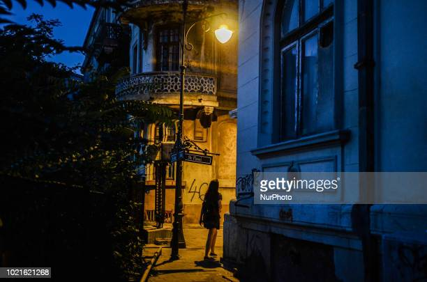 People used the hot weather to walk on the streets of the Romanian Black sea city of Constanta Romania on August 21 2018