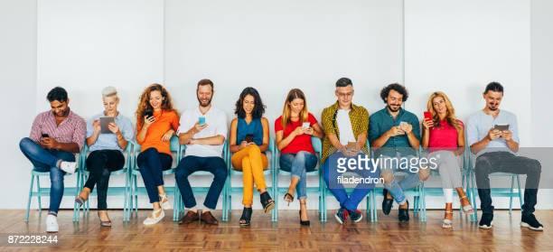 People using modern technology