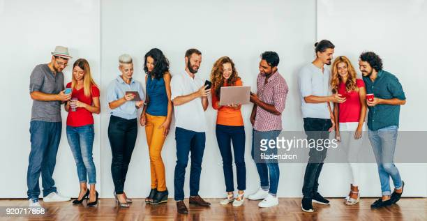 people using modern technology - group of objects stock pictures, royalty-free photos & images