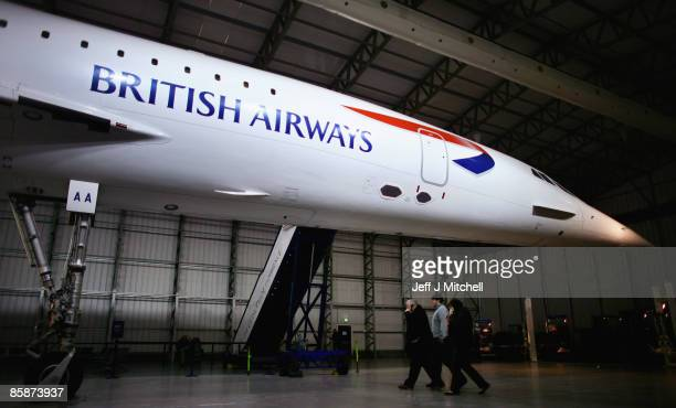 People view a Concorde aircraft at the museum of flight in East Fortune on April 9 2009 in Edinburgh Scotland The aircraft is celebrating 40 years...