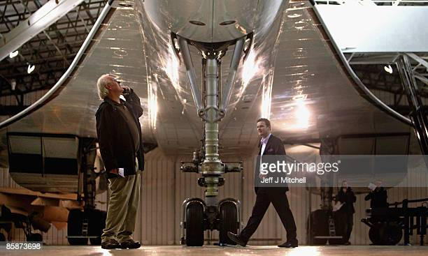 People view a Concorde at the museum of flight in East Fortune on April 9, 2009 in Scotland. The aircraft is celebrating 40 years since its inaugural...