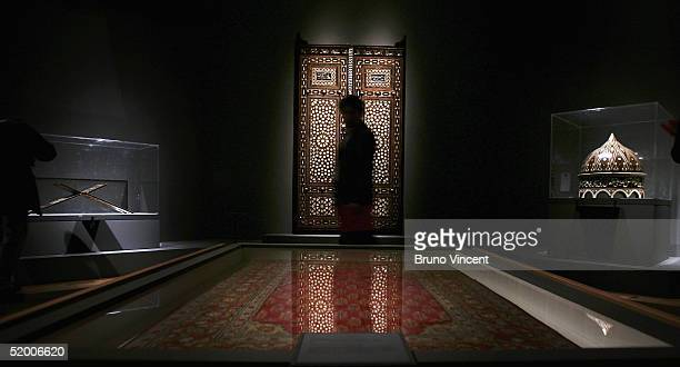 People view exhibits during the press view for the 'Turks A Journey of a Thousand Years 6001600' exhibition at the Royal Academy of Arts on January...