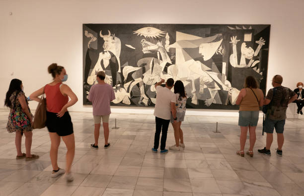 ESP: Reina Sofia Museum Celebrates The 40th Anniversary Of The Arrival Of Pablo Picasso's Guernica Painting To Spain