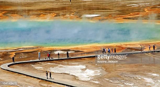People Viewing the Grand Prismatic Spring