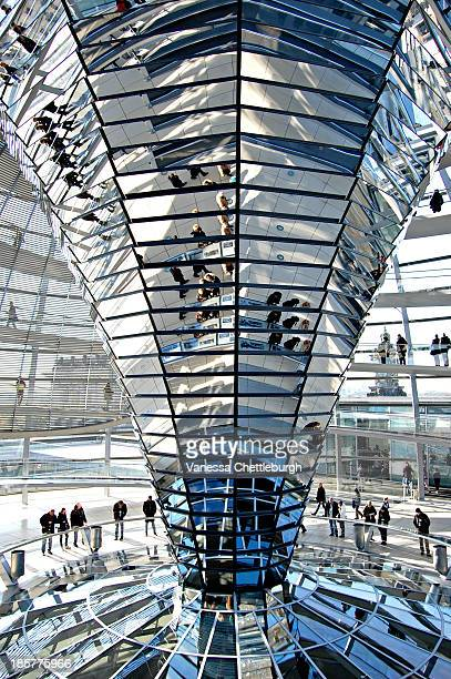 CONTENT] People viewing the mirrored cone in the Reichstag Berlin