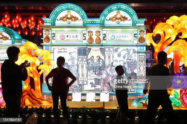 People visit a night market at National Exhibition and Convention Center on June 6, 2020 in Shanghai, China.