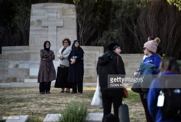 People visit Ariburnu Anzac cemetery at Anzac cove after a dawn service marking the 103rd anniversary of ANZAC Day in Canakkale Turkey on April 25...