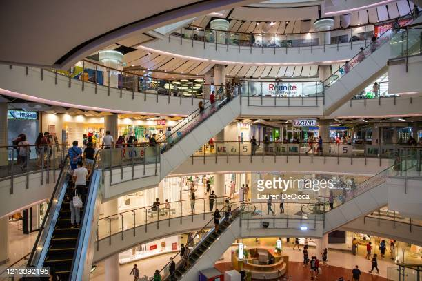 People visit CentralWorld Mall on May 17 2020 in Bangkok Thailand Thailand has allowed shopping malls to reopen following the closure on March 22 in...
