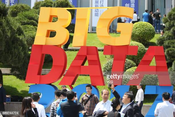 People visit China International Big Data Expo 2017 on May 27 2017 in Guiyang Guizhou Province of China China International Big Data Expo 2017 is...