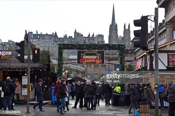 People visit Edinburgh's Christmas after opening on schedule this weekend on November 17 2019 in Edinburgh Scotland Concerns arose over the safety of...
