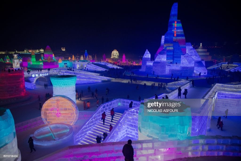 TOPSHOT-CHINA-ICE-FESTIVAL : News Photo