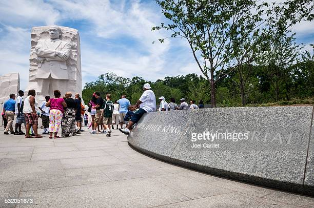 People visit Martin Luther King Jr Memorial in Washington DC