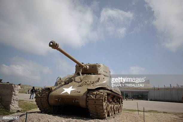 People visit on May 31 the historical place of Utah Beach in SainteMarieduMont northwestern France one of the sites of the Overlord Operation where...