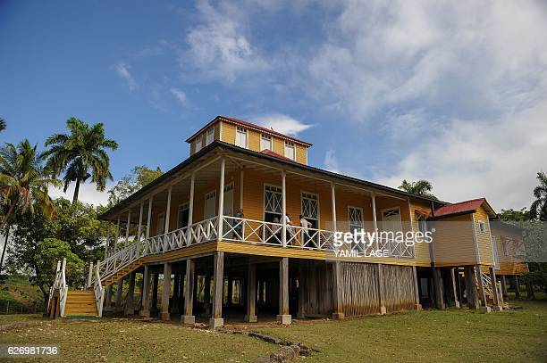 People visit on November 30 2016 the Castro family hometurnedmuseum in Biran birthplace of late revolutionary leader Fidel Castro and his brother...