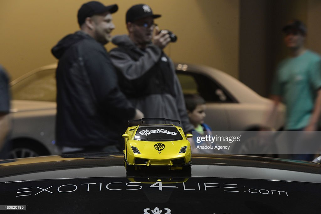 People visit the 2014 New York International Auto Show to see customized luxury cars at the Jacob Javits Center New York, United States on April 25, 2014.