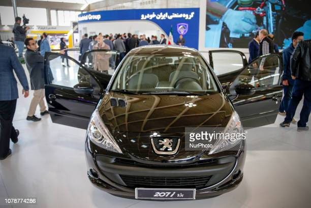 People visit The 2019 Tehran Auto Show at Shahr-e Aftab International Exhibition Center in Tehran, Iran. On 07 January 2019.