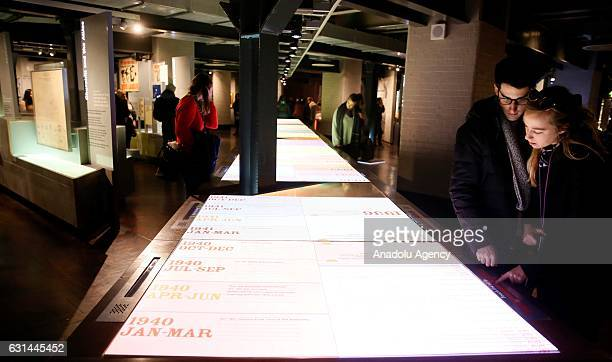 People visit the Churchill War Rooms Museum in London, United Kingdom on January 11, 2017. The museum comprises the Cabinet and Churchill War Rooms...