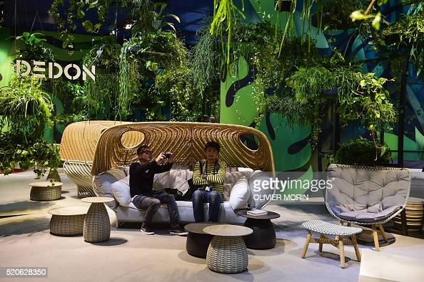 People visit the 39 dedon 39 design stall on april 12 2016 for Salone di milano 2016