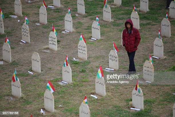 People visit the Halabja Martyrs Monument to commemorate the victims of Halabja massacre due to 30th anniversary of Halabja Massacre and its victims...