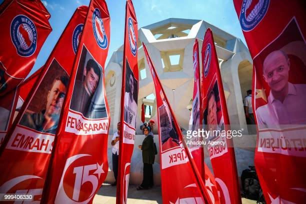 People visit the 'July 15 Martyrs' Memorial' during the July 15 Democracy and National Unity Day's events held to mark July 15 defeated coup's 2nd...