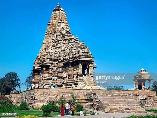 people visit the khajuraho group of monuments - khajuraho stock pictures, royalty-free photos & images