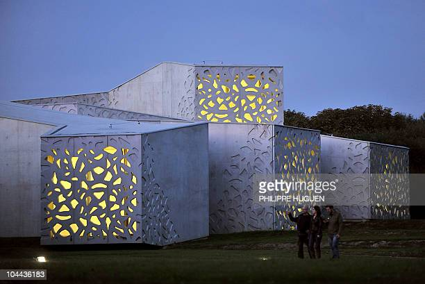 People visit the Lille Metropole's modern art museum on September 24 2010 in Villeneuved�Ascq northern France After over four years of renovation and...