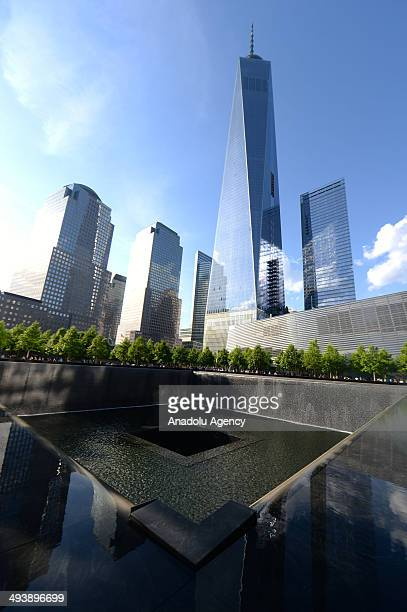 People visit the National 9/11 Memorial Museum in New York United States on May 25 2014 The National 9/11 Memorial Museum was opened to the public...