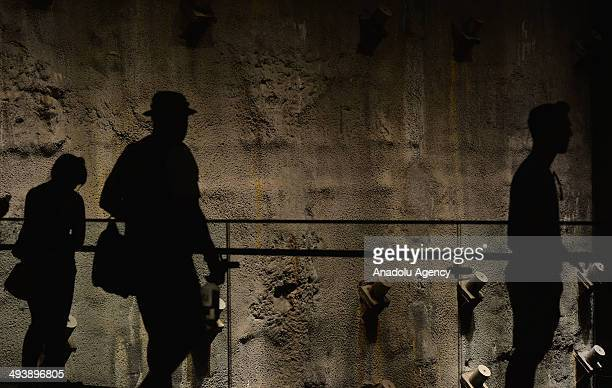 People visit the National 9/11 Memorial Museum in New York, United States on May 25, 2014. The National 9/11 Memorial Museum was opened to the public...