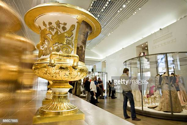 People visit the newly renovated Hermitage museum in Amsterdam, on June 21, 2009. Russian President Dmitry Medvedev and Dutch Queen Beatrix...