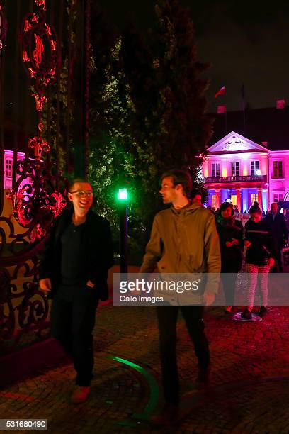 People visit the Potocki Palace during The Long Night of Museums on May 14 2016 in Warsaw Poland Long Night of Museums is an annual event where...