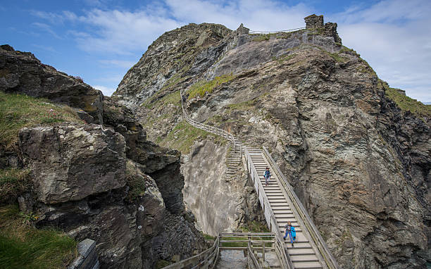 new sculpture revealed on the historic site at tintagel photos and images getty images. Black Bedroom Furniture Sets. Home Design Ideas