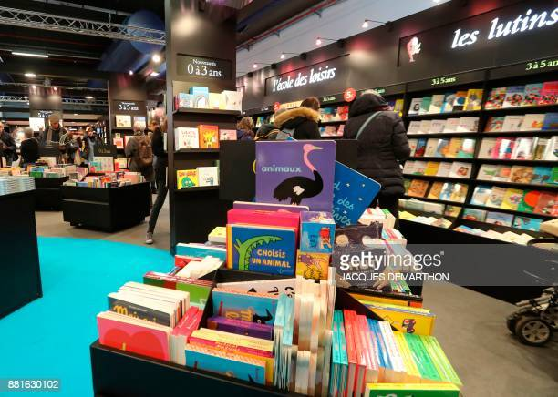 People visit the Salon du livre et de la presse jeunesse in Montreuil eastern Paris on November 29 2017 DEMARTHON