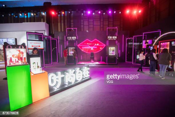 People visit the Tmall New Retail Showcase during the Single's Day Global Shopping Festival on November 11 2017 in Shanghai China Alibaba Group...