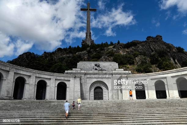 People visit the Valle de los Caidos a monument to the Francoist combatants who died during the Spanish civil war and Spain's General Francisco...