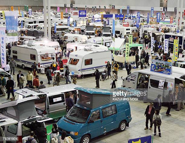 People visit to the Dream Outdoor Camping RV Show 2007 hosted by Japan Recreational Vehicle Association at Makuhari Messe in Chiba Prefecture 10...