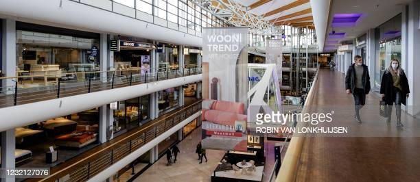 People visit to the Woonmall Alexandrium on Easter Monday which is receiving customers by appointment and according to the guidelines of the RIVM due...