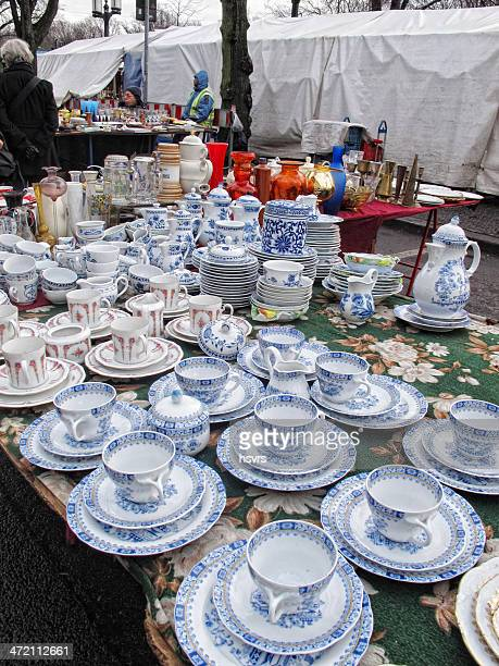 Antique China Dishes Stock Pictures