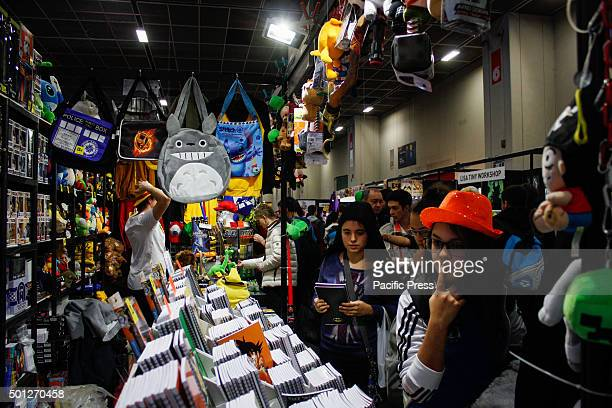 People visiting the fair Second edition of 'Xmas Comics and Games' a Christmas party preview of Torino Comics 2016 the fascinating fair featuring...