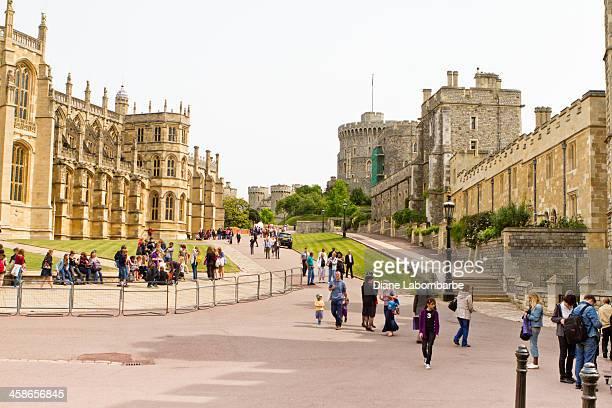 People Visiting Windsor Castle
