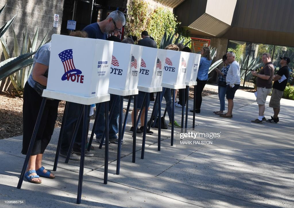 us-politics-vote-voting : News Photo