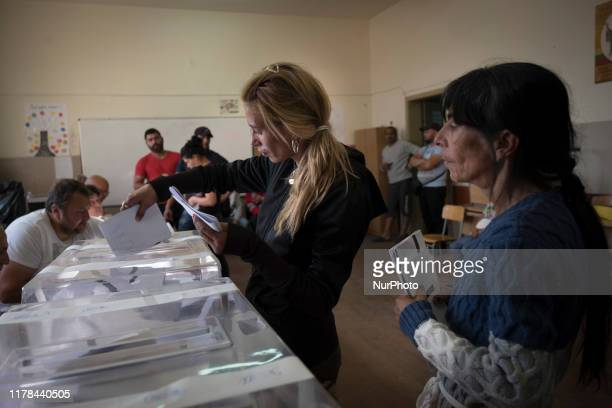 People vote in the Fakulteta a majority Roma area of Sofia and part of Krasno Polyana municipality Across Bulgaria elections for municipal officers...