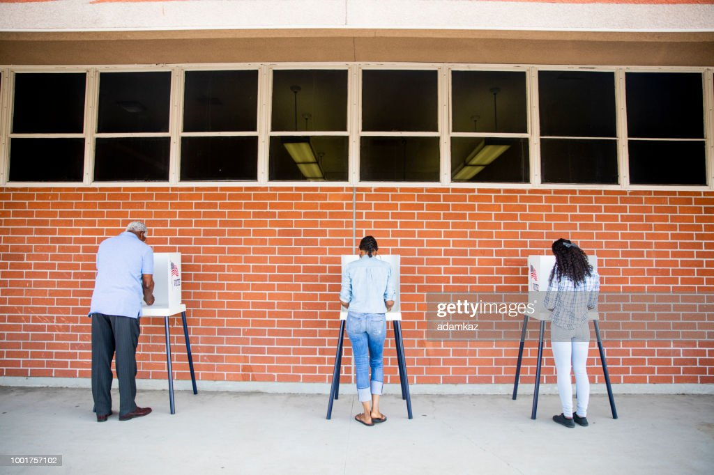 People Voting in a Government Election : Stock Photo