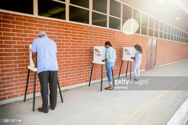 People Voting in a Government Election