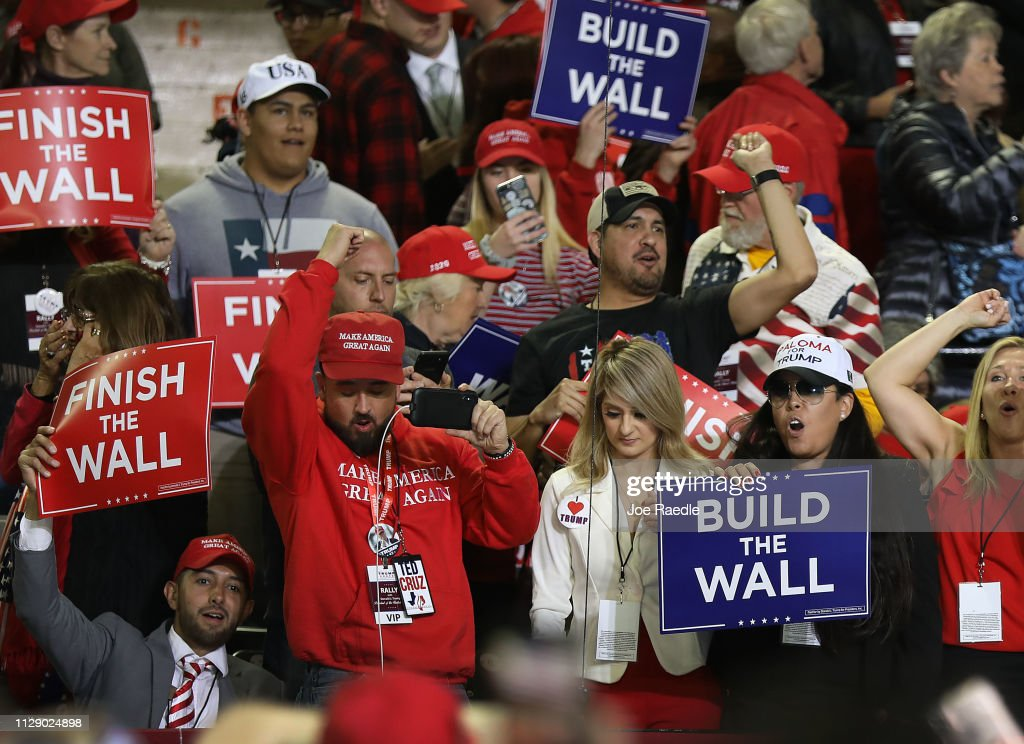 Donald Trump Holds MAGA Rally In El Paso To Discuss Border Security : News Photo