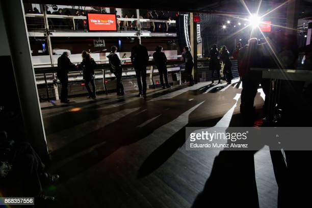 People wait for the arrival of Sen Bernie Sanders and New York City Mayor Bill de Blasio during a campaign rally on October 30 2017 in New York City...