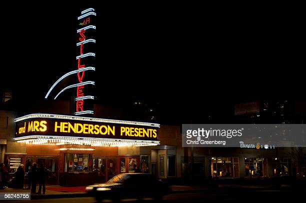 People wait for the doors to open on the closing night ceremonies and the DC premier screening of the film Mrs Henderson Presents at the AFI Silver...