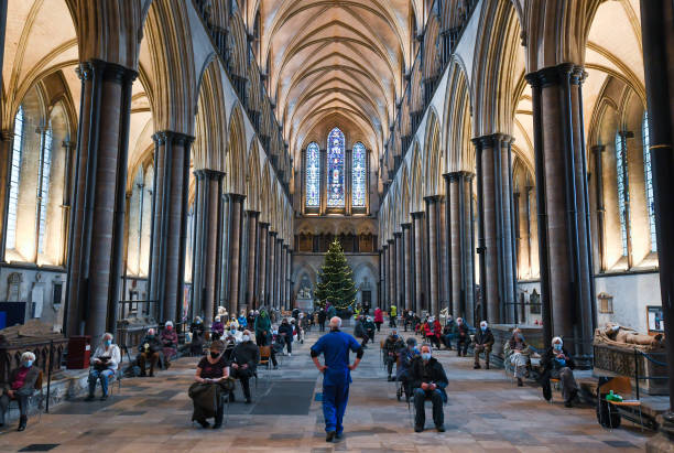 GBR: Salisbury Cathedral Used As Covid-19 Vaccination Centre