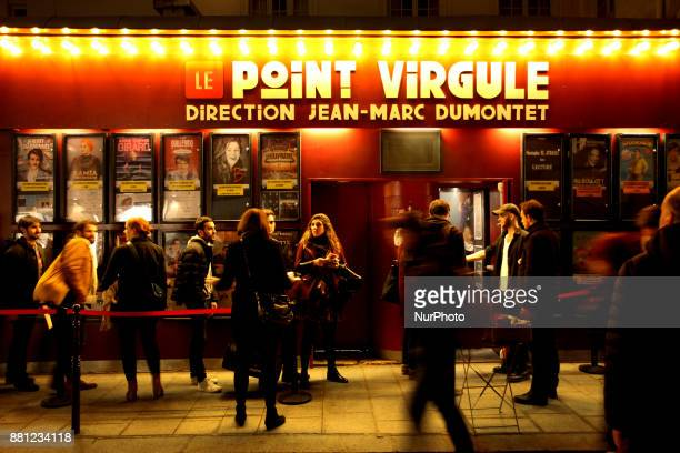 People wait in a queue for a ticket at a theater in Paris France on November 24 2017