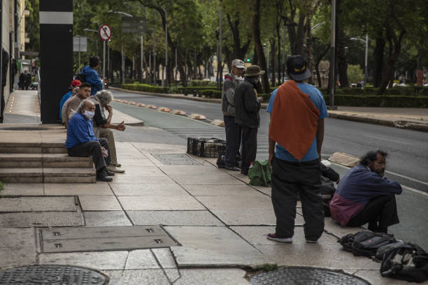 MEX: A Charity Provides Food For Residents As Unemployment Reaches Record Levels